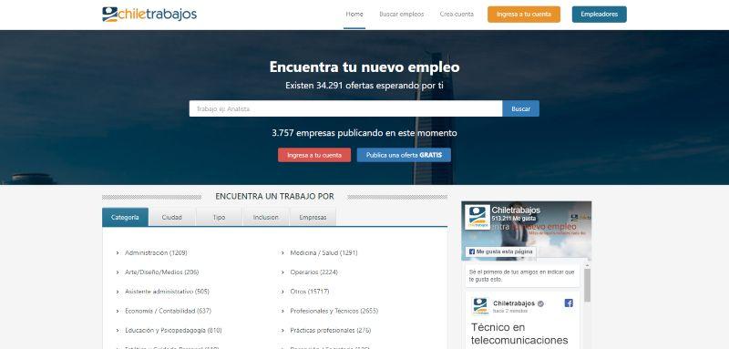 Ofertas de trabajo bolsa de trabajo Busca empleos en Chiletrabajos