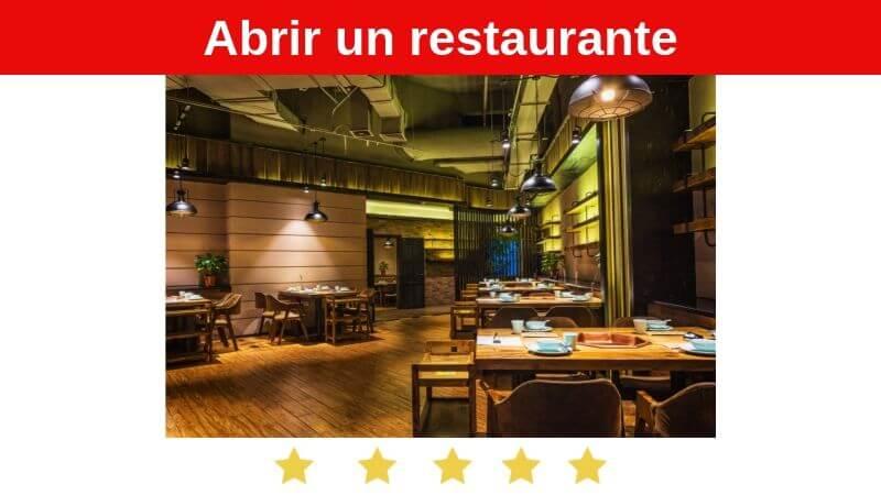 abir un restaurante