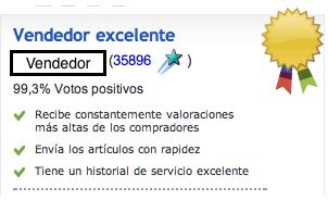 elegir vendedor confiable en ebay